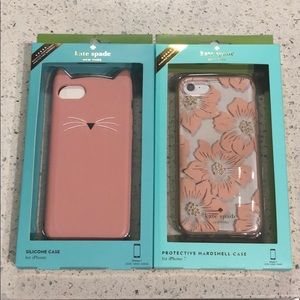 Kate Spade iPhone 7 case bundle Kitty and floral